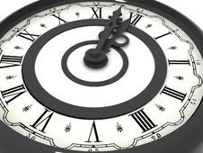 Clock. Midnight Royalty Free Stock Images
