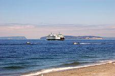 Free Ferry Boat Under Sunset Stock Image - 2894651