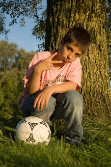 Free Boy Showing Peacesign Stock Photography - 2894882