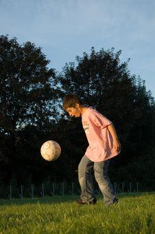 Boy Plays With Ball Stock Photos