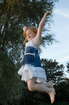 Free Girl Jumping And Cheering Royalty Free Stock Photos - 2894898