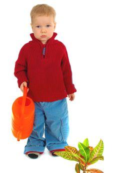 Free Little Gardener Boy Royalty Free Stock Photo - 2896275