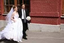 Free Bride And Fiance On The Street Stock Photography - 2896292