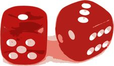 Free 2 Dice Showing 1 And 3 Stock Photography - 2896392