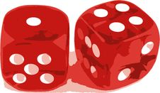 Free 2 Dice Showing 1 And 4 Stock Photos - 2896393