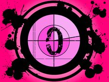 Free Pink Film Countdown - At 0 Royalty Free Stock Photo - 2896425