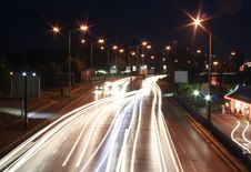 Free Highway In The Night Royalty Free Stock Photos - 2896608