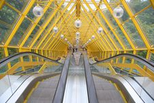 Free Escalator Of Pedestrian Bridge Stock Photos - 2896713