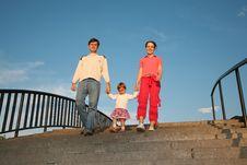 Free Family On Stone Ladder Stock Photos - 2896813