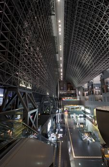 Free Kyoto Station Interior Royalty Free Stock Photos - 2896988
