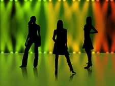 Free Disco Dancers Royalty Free Stock Images - 2897689