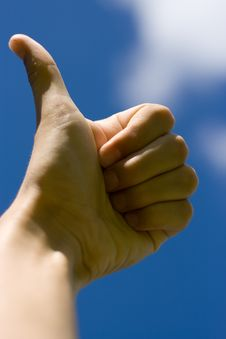 Free Thumb Up. Royalty Free Stock Photography - 2898547