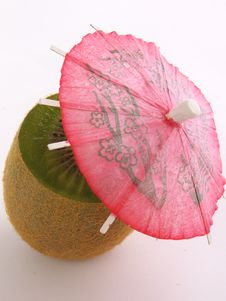 Free Kiwi With A Red Umbrella Royalty Free Stock Photography - 2898817
