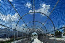 Free Fenced Walkway On Blue Sky Stock Image - 2899121
