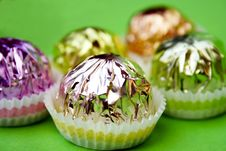 Free Pralines On Green Stock Photography - 2899542