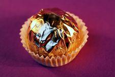Free Praline On Purple Stock Image - 2899551