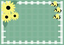 Free Honey Bee And Daisies Stock Photo - 2899610