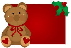 Free Christmas Teddy Bear Stock Photography - 2899942