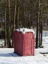 Free Winter Outhouse In The Woods Stock Photo - 28909220