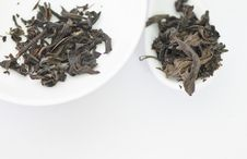 Free Dry Tea Leaves On A White Background Stock Photos - 28901473