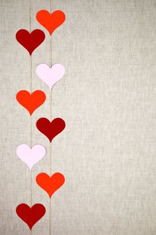 Free Hearts Garlands Stock Images - 28905394