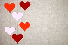 Free Valentine Hearts Garlands Royalty Free Stock Photo - 28905405
