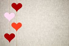 Free Hearts Garlands Royalty Free Stock Images - 28905409