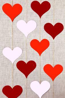 Free Hearts Garlands Stock Photos - 28905413