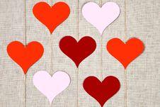 Free Hearts Garlands Royalty Free Stock Photo - 28905415