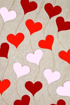 Free Hearts Garlands Stock Images - 28905424