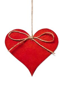 Free Red Heart Hanging In Thread Stock Image - 28905431
