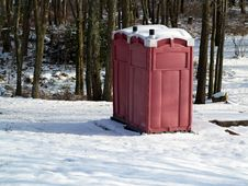 Free Winter Outhouse In The Woods Stock Image - 28908611