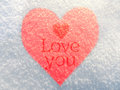 Free Heart In The Snow Stock Images - 28912994