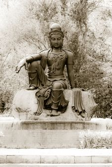 Free Black Budha On Three Background Royalty Free Stock Photo - 28912545