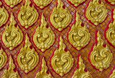 Free Thai Art Wall Pattern Royalty Free Stock Image - 28914156
