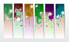 Free Splat Banners Stock Photography - 28916472