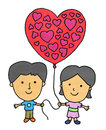 Free Our Balloon Heart Royalty Free Stock Images - 28926089