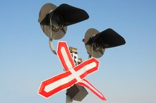 Traffic-light In Winter Royalty Free Stock Photography