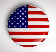 USA Flag Icon Stock Photography