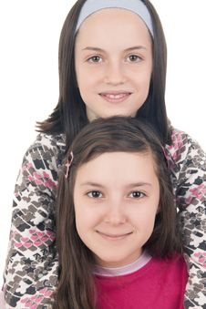 Free Two Young Girls Smiling Stock Photo - 28924160