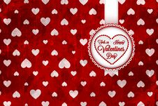 Free Happy Valentines Day Card Royalty Free Stock Photography - 28924347