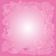 Free Background With Hearts Pinky Royalty Free Stock Photos - 28925128