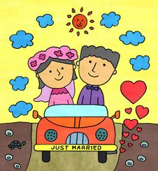 Free Just Married Royalty Free Stock Photos - 28925888
