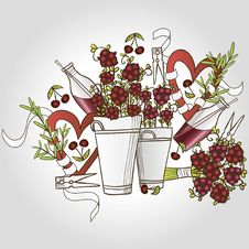Free Сherry Bouquet Stock Image - 28929961