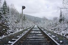 Free Railroad Stretching Into The Distance Stock Photography - 28929992