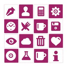 Free Web And Simple Pictograms Set Isolated Stock Photos - 28939513