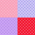 Free Set Of Heart Seamless Patterns Stock Images - 28941514