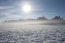 Winter Morning Fog Stock Photography