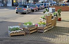 Flower Seller Shop Display Royalty Free Stock Photography