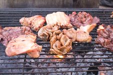 Free Pork Grilled Royalty Free Stock Photography - 28946807